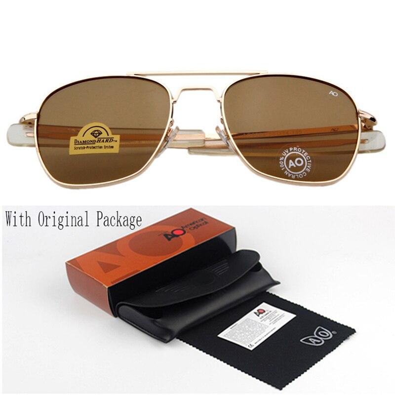 Fashion Sunglasses Men American Army Military Brand Designer AO Sun Glasses For Male Optical Glass Lens 1