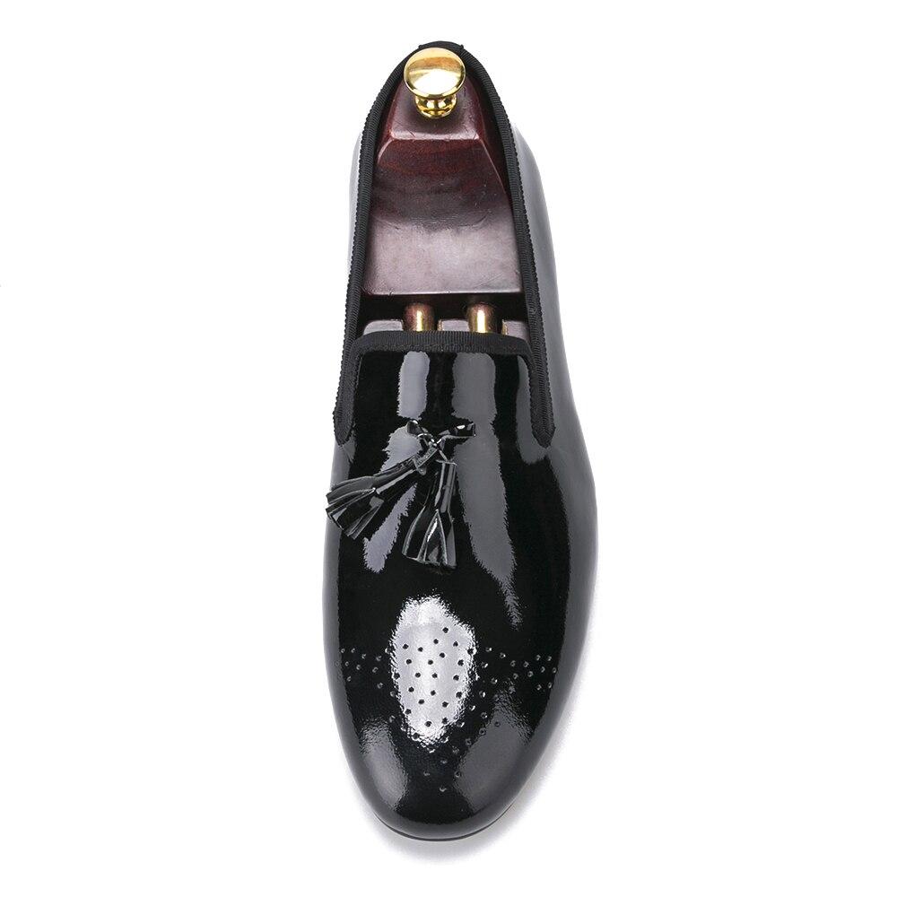 7bcc366724 Charol Con Mocasines Borla Zapatos Vestir Para Hombre Negros De qx6vUwFT