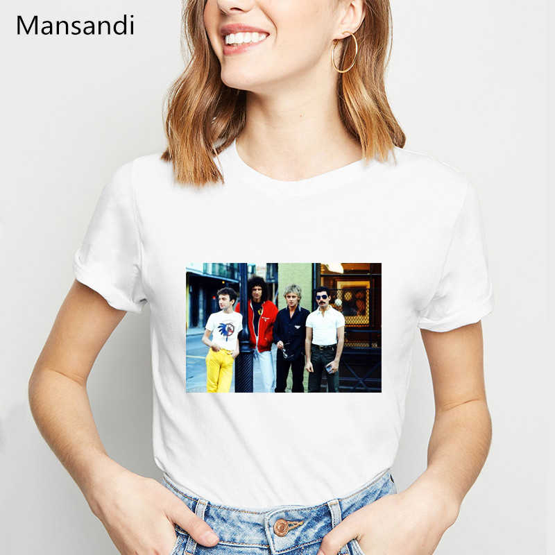 Vintage Freddie Mercury t shirt women clothes 2019 the queen