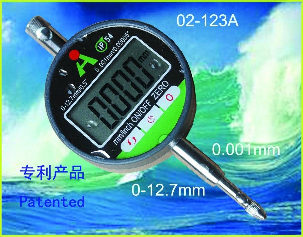 ФОТО Micron digital indicator digital dial gauge digital dial indicator 0.001mm 0-12.7mm  02-123A