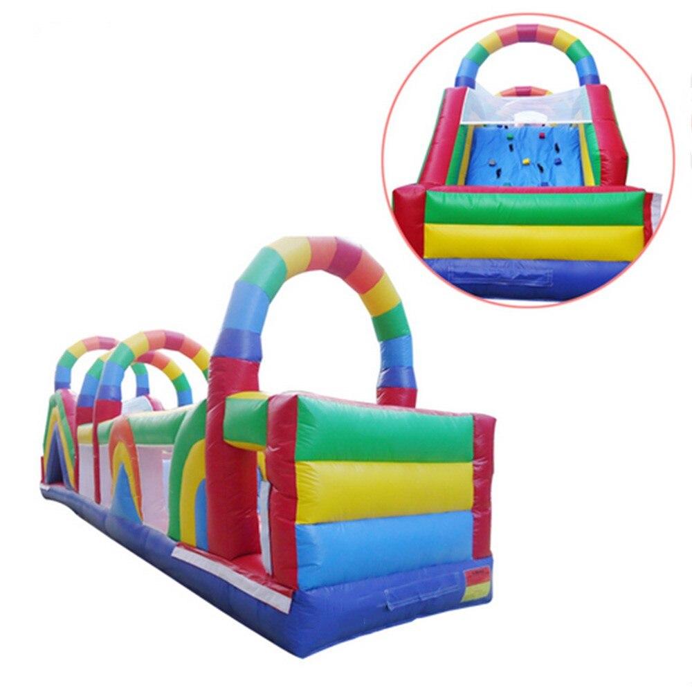 Aire de jeux extérieure gonflable géante gonflable d'amusement extérieur gonflable de parcours du combattant