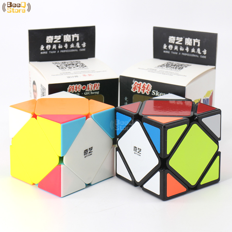 Qiyi Qicheng Skew Magic Cube Speed 3x3x3 Qiyiskewb Cube Puzzle Magico Cubo Black Stickerless Educational Brain Teaser ToyQiyi Qicheng Skew Magic Cube Speed 3x3x3 Qiyiskewb Cube Puzzle Magico Cubo Black Stickerless Educational Brain Teaser Toy