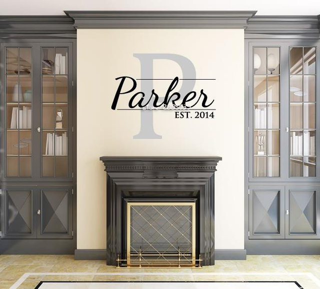 Home Decor Family Name Wall Stickers Vinyl Wall Decal Monogram Living Family Room Perfect Quality Wallpaper & Home Decor Family Name Wall Stickers Vinyl Wall Decal Monogram ...
