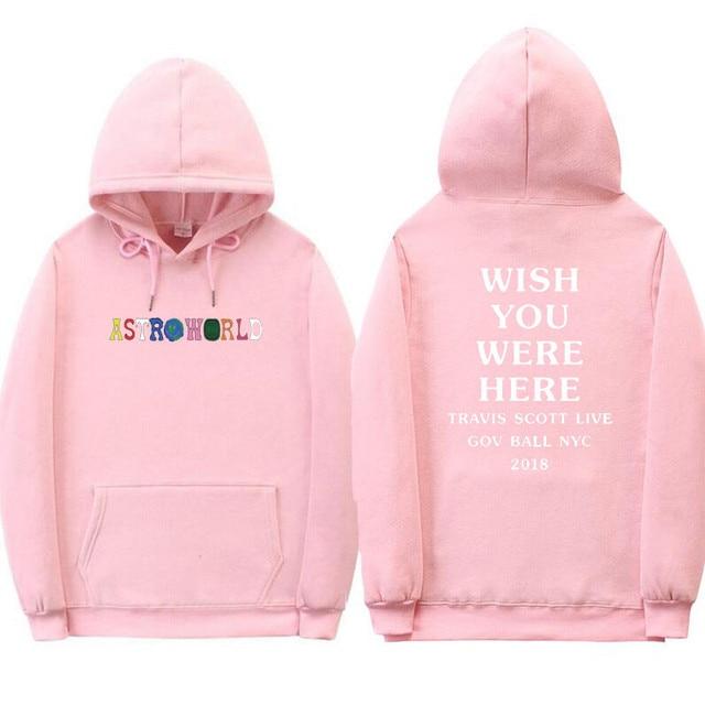 0ae5dc281a97 Newest Travis Scott Astroworld WISH YOU WERE HERE hoodies fashion letter  print Hoodie Harajuku Man and