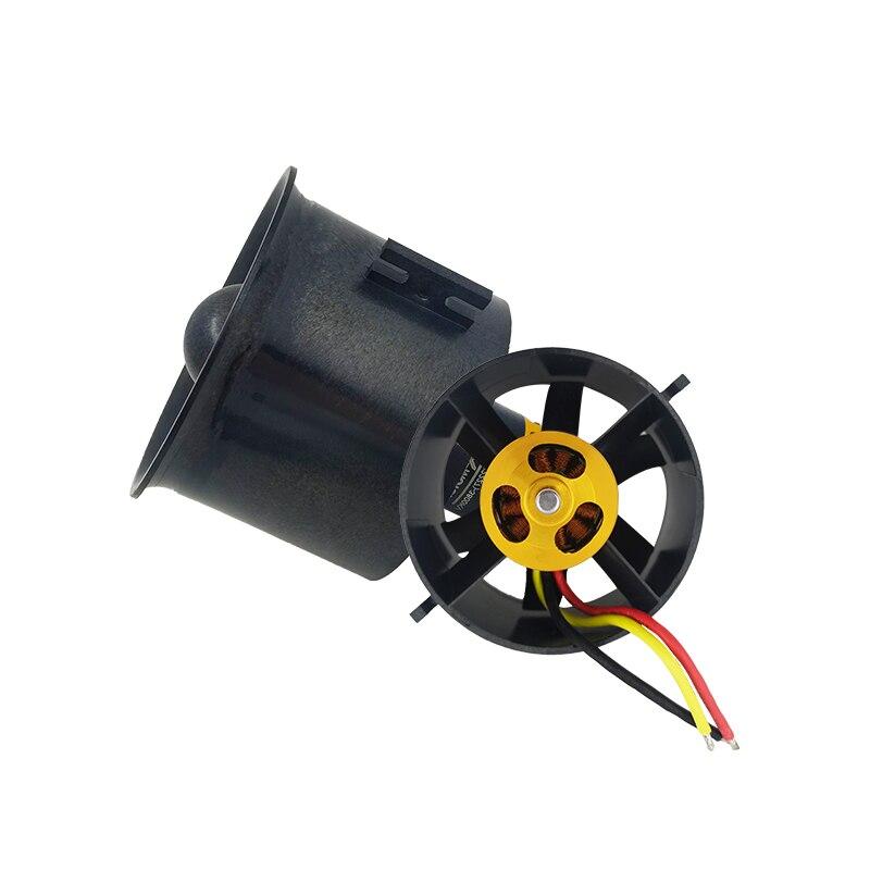 QX Motor 70mm 6 cuchillas ventilador EDF con 2827 KV2300 KV3500 KV3800 Motor sin escobillas para RC aviones