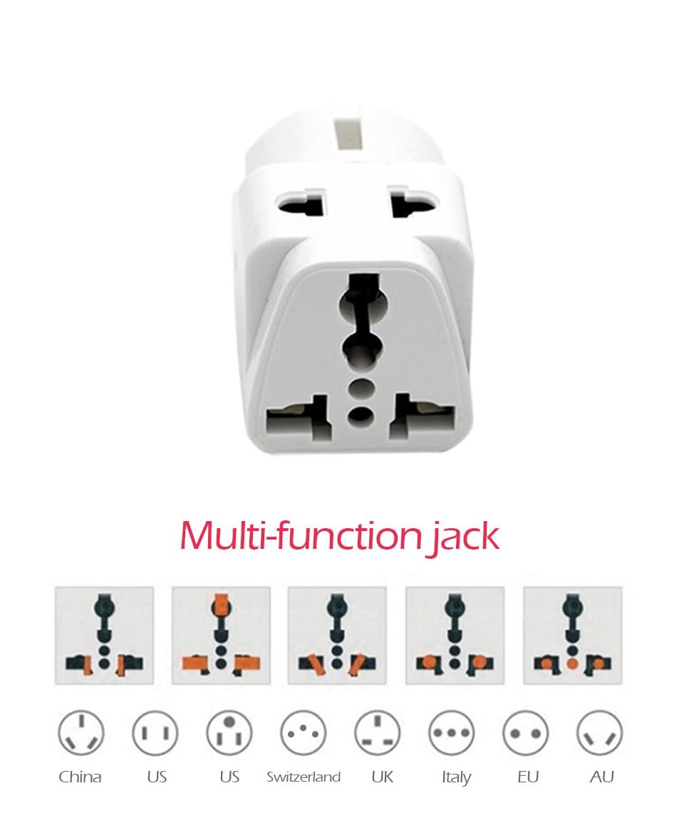 1PC European EU Plug Adapter High Quality Practical Universal US UK AU to EU Plug Travel Power Adaptor Electric Charger Sockets (11)