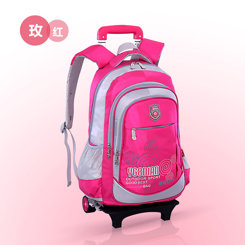 Trolley detachable nylon kids backpack children mochilas primary high school bags with wheele for student girls boys 2017 newTrolley detachable nylon kids backpack children mochilas primary high school bags with wheele for student girls boys 2017 new