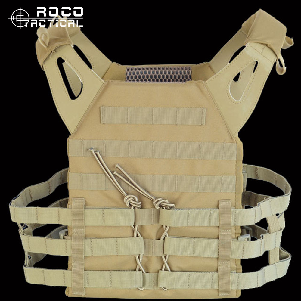 JPC Tactical Vest Combat CS Wargame Molle Tactical Vest Military Wargame Chest Rig Molle Plate Carrier Hunting Airsoft Vest