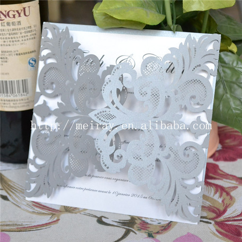 unidslote plata laser cut de boda tarjetas de invitacin para la boda
