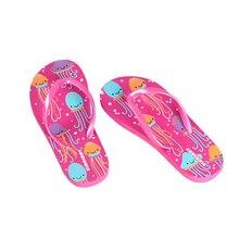 Тапочки для маленьких девочек; Повседневные детские Вьетнамки для подростков; домашние тапочки для подростков; Повседневная забавная обувь для бассейна; пляжные сандалии; акция