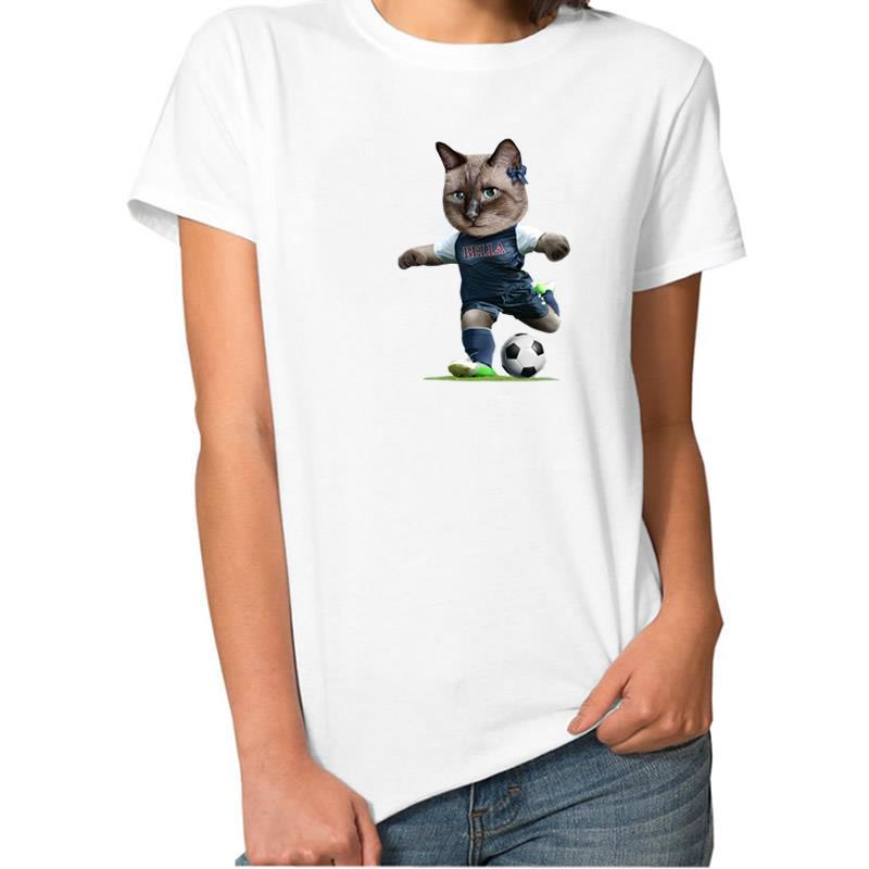 2018 Новая мода футболка с рисунком кота Топы корректирующие Harajuku футболка Для женщин панк Kawaii BTS Camiseta Wonder Woman