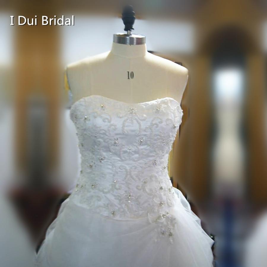 Ball Gown Wedding Dresses Ruffle Tulle Beaded 2017 Factory Custom ...