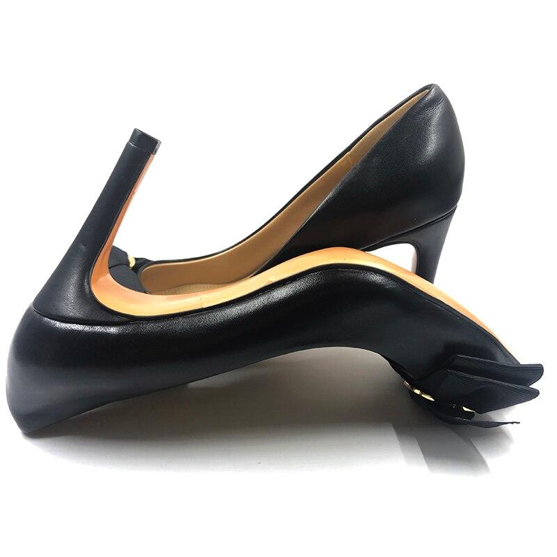 Alta Da Chaussures Per Arco Tacco Da044 2 Vera 1 Design Pelle Signore Sposa Le Donna Femme A Punta Scarpe Pompe Di vAaEwnOq4a
