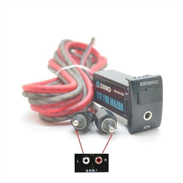 Samochodowy sprzęt audio akcesoria 3.5mm gniazdo AUX wejście usb adapter gniazda dla Mazda 2 3 6 5 8 CX5 CX-5 RX-8 do smartfona