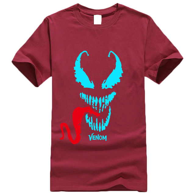 casual Cotton T-shirts men Anime Movie man's Comic Originality Venom T Shirt streetwear Tops Tee Homme casual camisetas 2019 new