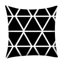 Gajjar черно-белый геометрический декоративный чехол для подушки s полиэстеровый чехол для подушки в полоску геометрический чехол для подушки kussensloop 404