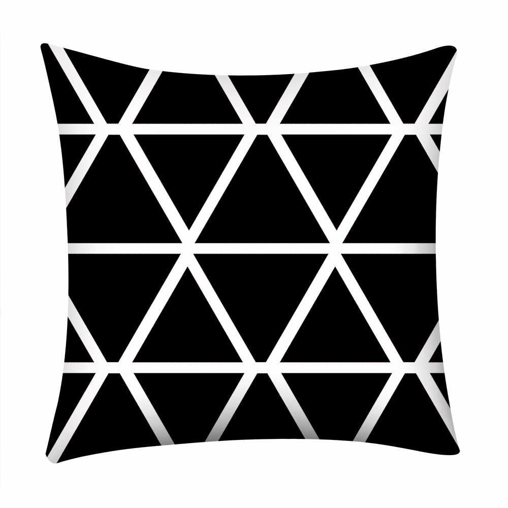 Gajjar Black and White Geometric Decorative Pillowcases Polyester Throw Pillow Case Striped Geometric Pillowcase kussensloop 404