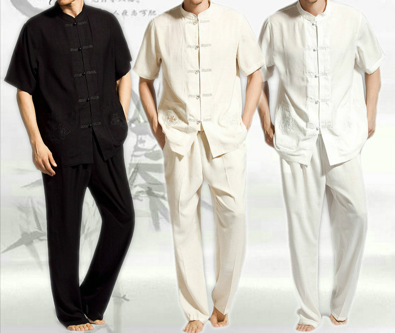 Hommes Chinois Traditionnel Tang Costume Top/pantalon Tai Chi Vêtements Shaolin Kung Fu Manches Longues Exercices Costume