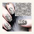 YZWLE 1 Sheet DIY Decals Nails Art Water Transfer Printing Stickers Accessories For Manicure Salon YZW-8630