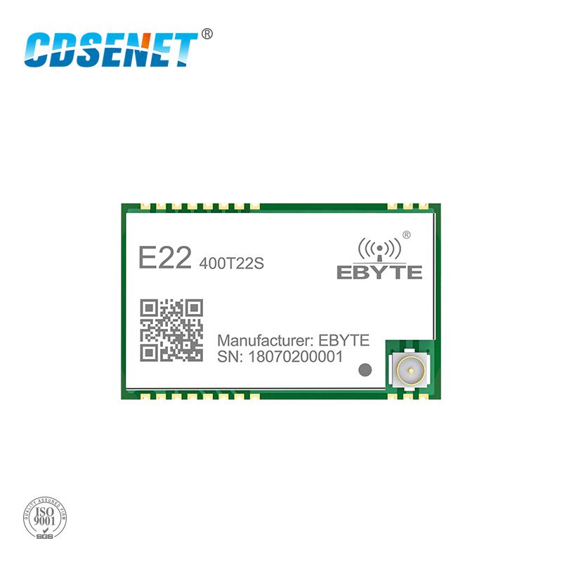E22-400T22S SX1262 SX1268 UART LoRa Net Working RSSI Wireless Transceiver 22dBm 433MHz SMD IPEX Stamp Hole TCXO Module Receiver