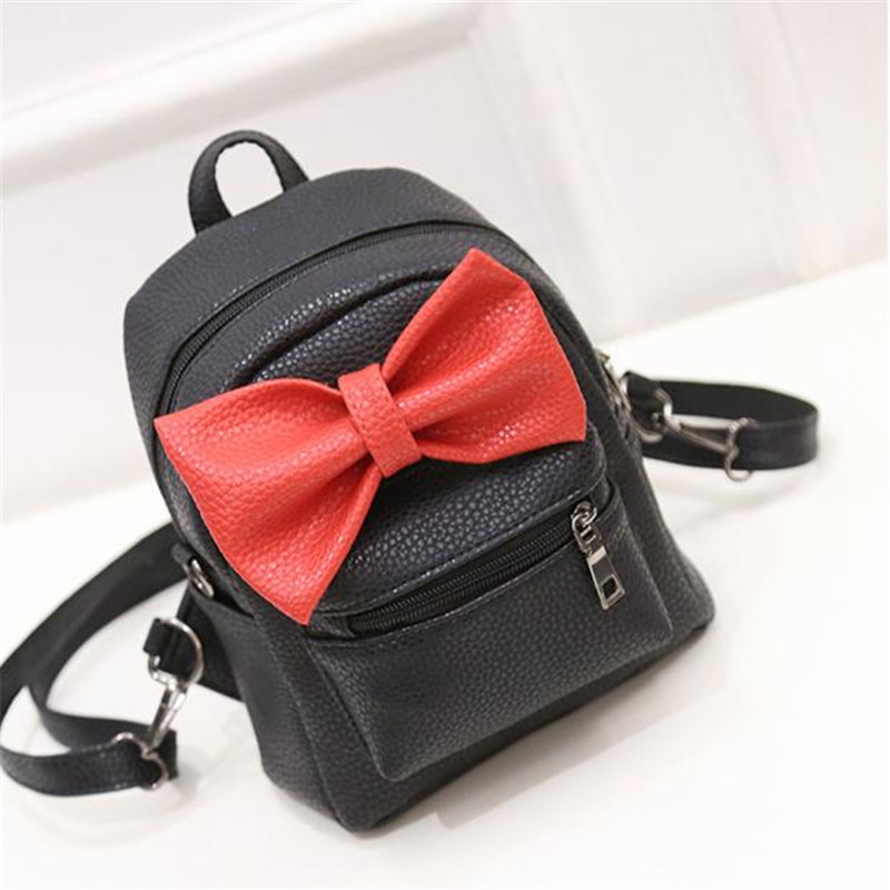 купить Fashion Women Leather Shoulder Backpack Cute Pattern School Bag Travel Satchel Rucksack School Baby Mini Backpack Mochila недорого