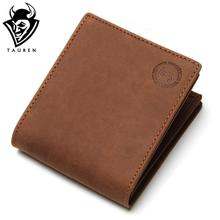 Crazy Horse Leather Men Wallets 2015 Man Brand Design Purse Card Vintage Wallet Holder Short Fold Genuine Small Bag