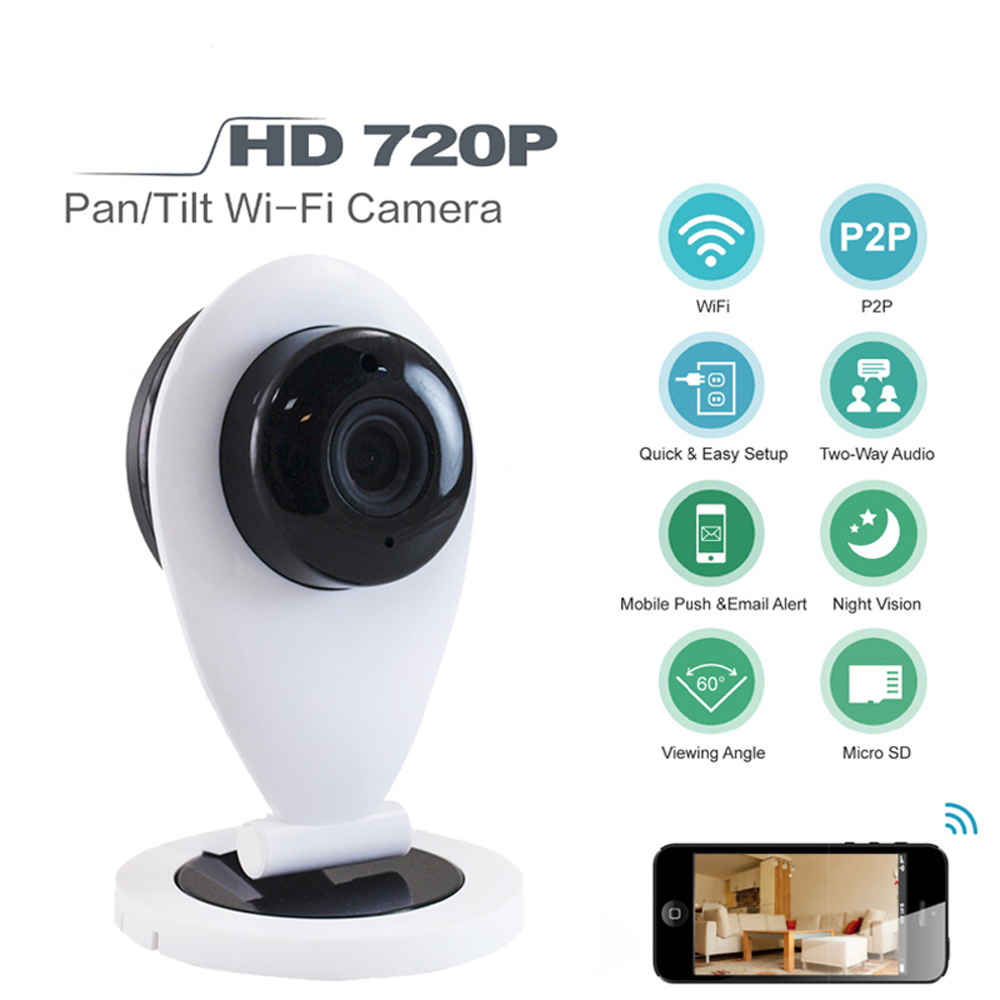 Wireless 720P HD IP Camera IR Cut Night Vision P2P Baby Monitor Audio Record WIFI CCTV