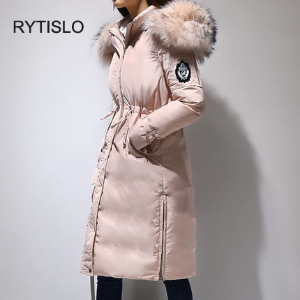 2017 new Korean version of the long paragraph down jacket thickening ladies jacket down jacket hooded hair collar warm wholesale free shipping new arrival 2015 ladies korean version of cultivating all match thickening cotton vest with fur collar