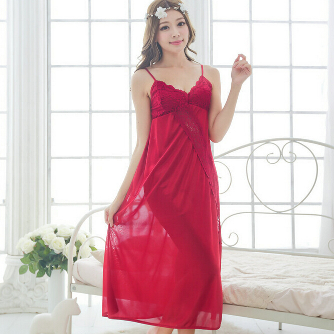 Free shipping women sexy temptation nightdress Comfortable long plus size  Large Sleepwear nightgown M1809 2-in Nightgowns   Sleepshirts from Women s  ... 86d9a523b