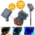MIRSOU 22M 200LED Solar Lamps Solar Power LED String Lights 8 Modes Waterproof For Garden Lights