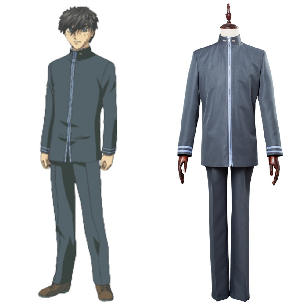 Full Metal Panic Cosplay Costume Invisible Victory Sousuke Sagara School Uniform Halloween Carnival Costume Custom Made Any Size Agreeable To Taste