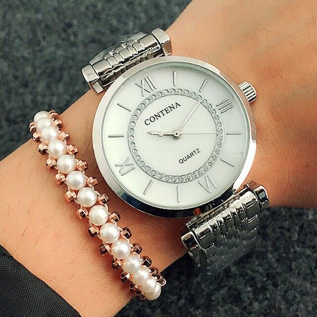 d015bfd8d18 2018 Moda Relógio De Quartzo Das Mulheres Relógios Senhoras Top Famosa Marca  De Luxo Relógio de