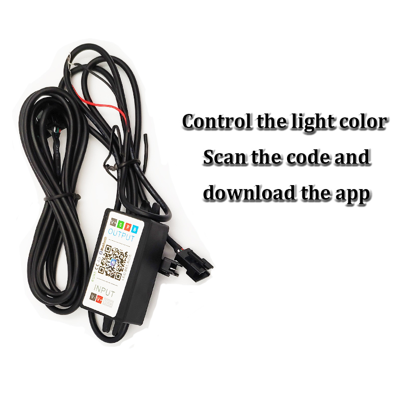 Image 2 - SZDS Auto RGB headlight Projector Led Devil Eye Demon Eye Lamp For Car App Remote Control projector headlamp angles eye-in Car Light Accessories from Automobiles & Motorcycles