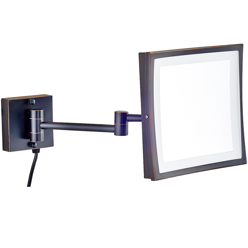 GuRun Hotel 360 Swivel Makeup Mirror with 50 led Lights and 3X Magnifying Glass Square Mirror with Double Folding Mirror ArmsGuRun Hotel 360 Swivel Makeup Mirror with 50 led Lights and 3X Magnifying Glass Square Mirror with Double Folding Mirror Arms