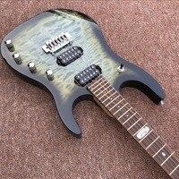 Custom Hohner Madcat Vintage Rare Electric Guitar Flame Maple Top black Finish Nicer