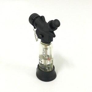 Image 2 - Encendedor de cigarros de butano Jet compacto caliente antorcha Turbo Gas cigarrillo 1300 C encendedor a prueba de viento sin Gas