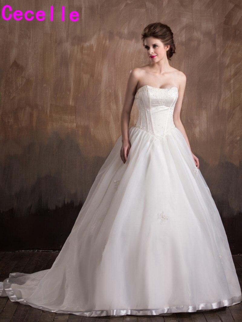 2017 New Vintage Princess Ball Gown Wedding Dresses Sweetheart ...