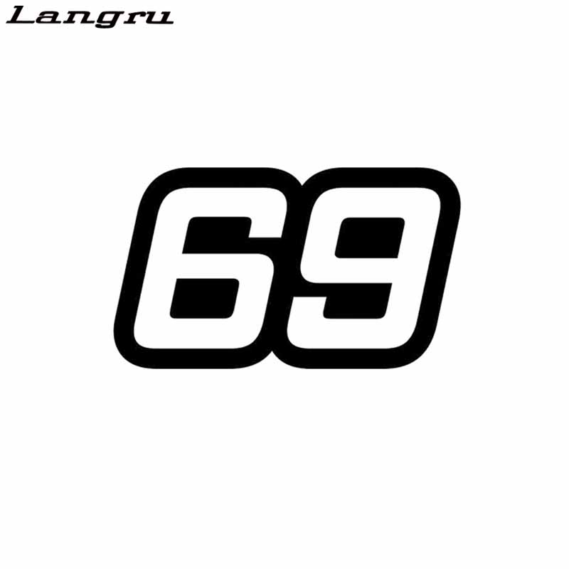 Langru Personalized Number 69 Vinyl Car-styling Car Sticker Graphical Decal Jdm(China)