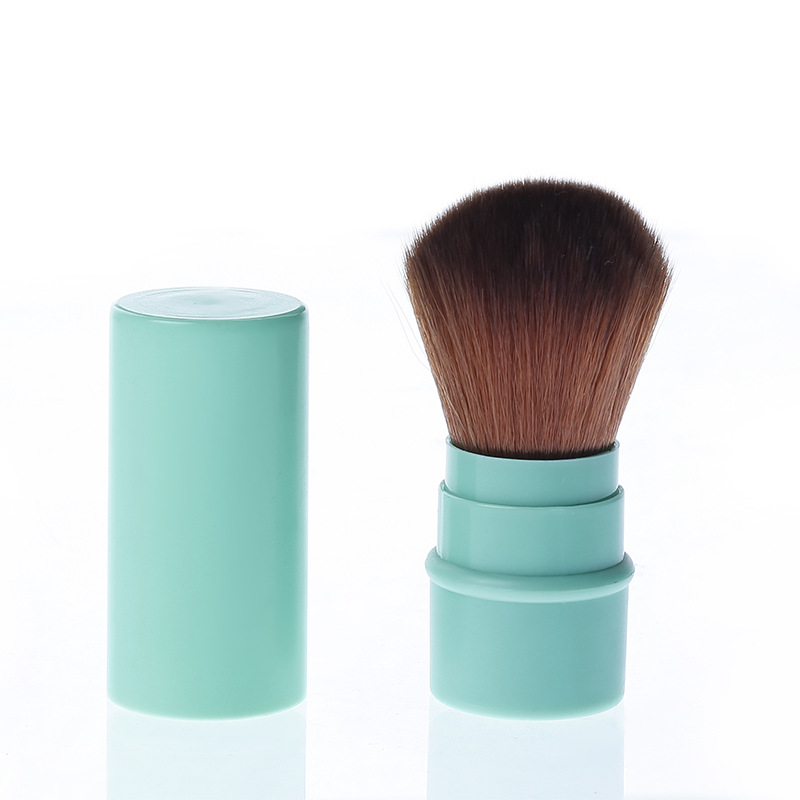 1 Pcs Retractable Makeup Brush Foundation Loose Powder Blush Synthetic Hair Soft Cosmetic Brush Face Contour Make Up Brush Tool