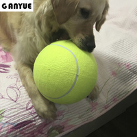 Ganyue Pet Dog Big Ball Toy 24CM Giant Tennis Ball For Dog Chew Toy Big Inflatable Tennis Ball Signature Large dogs Pet Toy Ball
