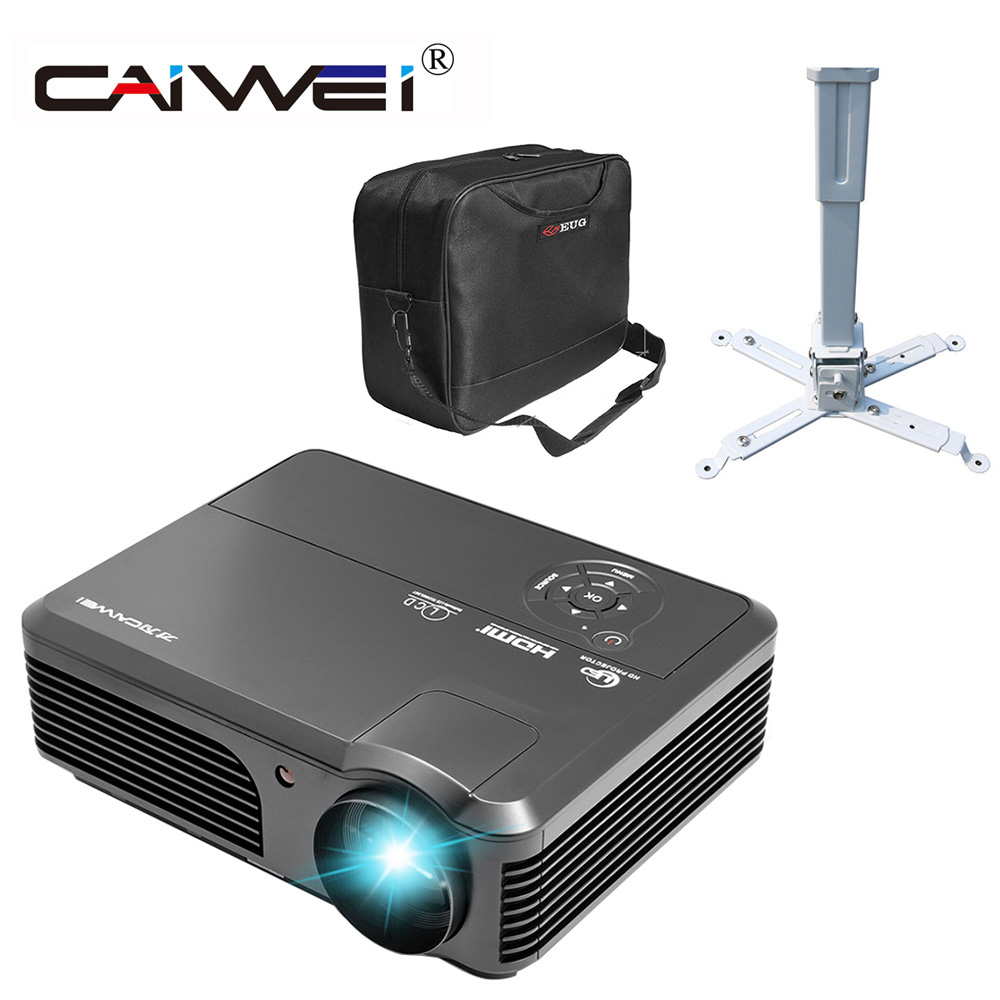 4000lm Projector Hd Lcd Led Home Theater Projector: Ceiling Bracket+ Projector Bag + LED 1080P HD Home Theater