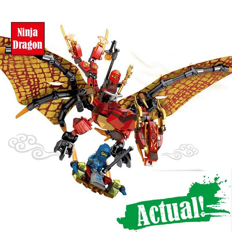 где купить Classic Ninja Flying Mech Dragon Building Blocks Bricks Figures Educational Toys For Children compatible legoingly ninjagoingly по лучшей цене