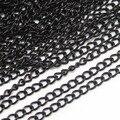 10 Meters/Pack Черный Металл, Латунь Ожерелье Цепи Основная для Diy Ожерелье Браслет Ювелирных Изделий Материалы Поставки F760