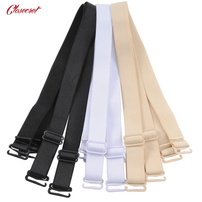 Closecret Bra Accessories Women's Convertible Shoulder Bra Straps 12mm 15mm Width(Pack of 3 Pairs:Beige/Black/White) 6
