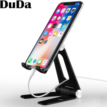 цена на DuDa Home Office Desktop Lazy Mobile phone Holder Aluminum Alloy Desk Stand Phone Bracket Support