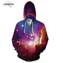 Cosmic Kräfte Druck 3D Raum Galaxy Zip-up Hoodie Männer Frauen Mode Multicolor Nebula Mit Kapuze Mode Langarm Trainingsanzug männer
