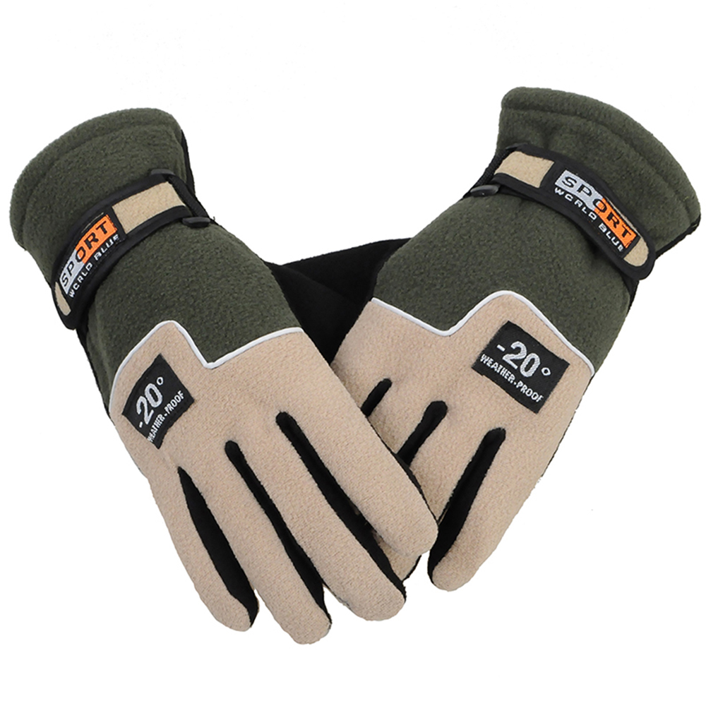 Outdoor <font><b>Winter</b></font> <font><b>Sport</b></font> Warme Fleece Full Finger Handschuhe Jagd Atmungs Radfahren Motorrad Ski Snowboard Anti-skid Luva Ciclismo image