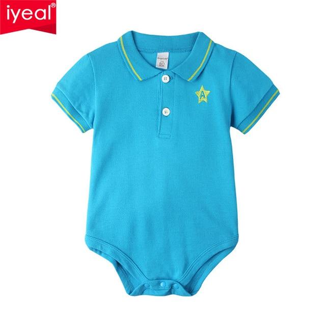 Новое Прибытие 2017 Лето Baby boy боди Clothing Поло ребенка 100% Хлопок Младенческой Тела Bebes Коротким Рукавом Одежда для Новорожденных