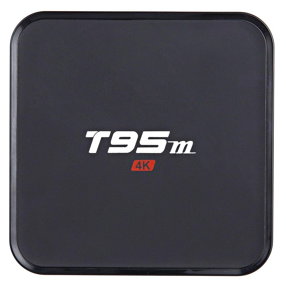 Prix pour T95M Android 6.0 Smart TV Box Amlogic S905X 2.0 GHz Quad Core 64bit 4 K HD 64bit 1G DDR3 8G Lecteur Multimédia 2.4 GHz WiFi Soutien HDMI