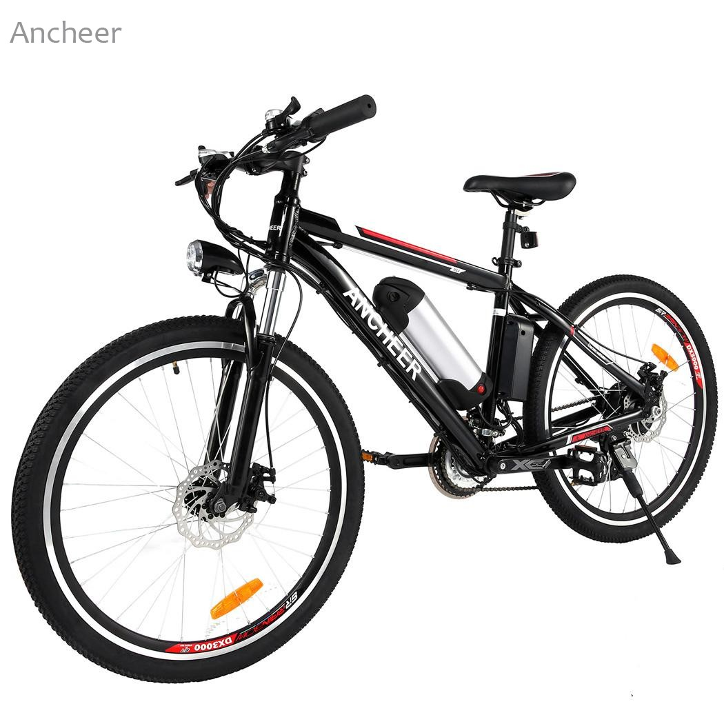 Ancheer 26 inch Wheel Aluminum Alloy Frame Mountain Bike Cycling Bicycle Black US plug west biking bike chain wheel 39 53t bicycle crank 170 175mm fit speed 9 mtb road bike cycling bicycle crank